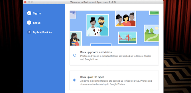 sauvegarder tous les types de fichiers google drive