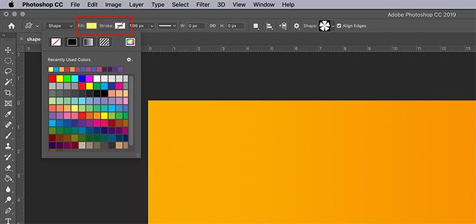 Comment utiliser l'outil de forme personnalisée Photoshop Fill and Stroke