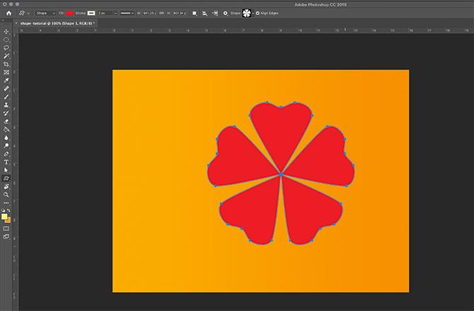 Comment utiliser l'outil Forme personnalisée Photoshop Shape on Page