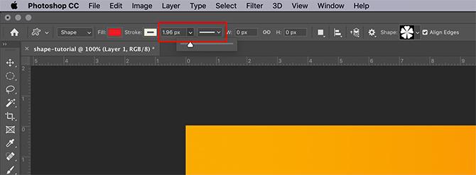 Comment utiliser l'outil de forme personnalisée Largeur et type de trait Photoshop