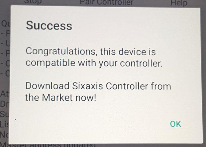 succès de la compatibilité sixaxis