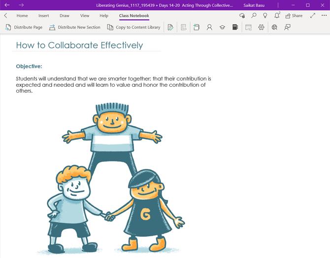 Les outils de bloc-notes de classe pour OneNote pour Windows 10