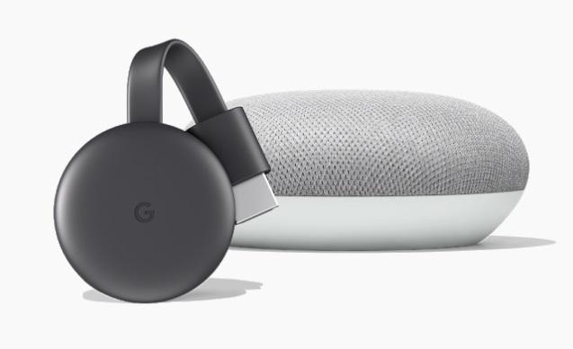 chromecast et google home