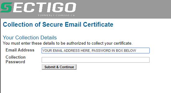 cours de sécurité par e-mail collecter un certificat numérique