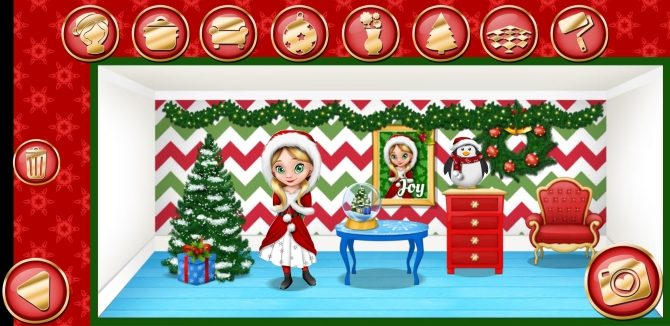 Capture d'écran de Christmas Dollhouse Games pour Android