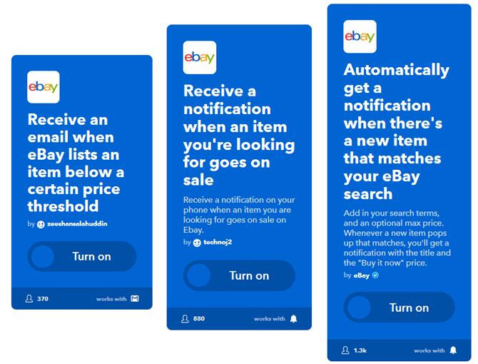 ifttt astuces offres en ligne ebay