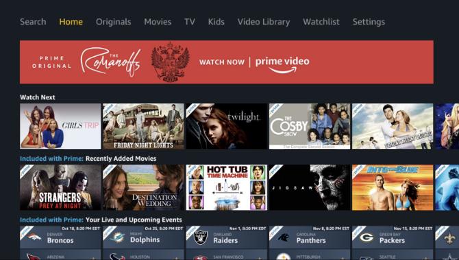 Amazon Prime Video App Haupt
