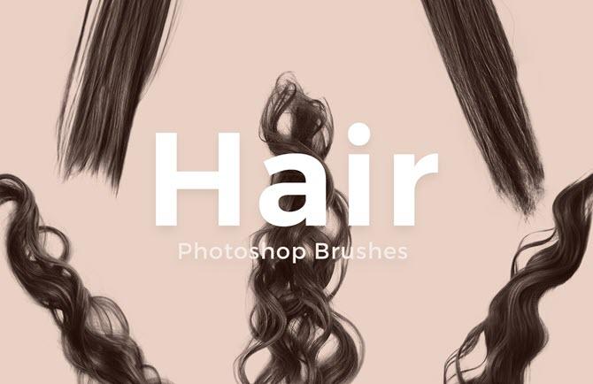 Ensemble gratuit de brosses à cheveux Adobe Photoshop