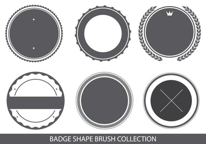 Brosse à logo en forme de badge pour Adobe Photoshop