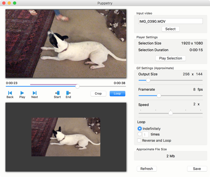 Puppetry Gif Maker pour Mac