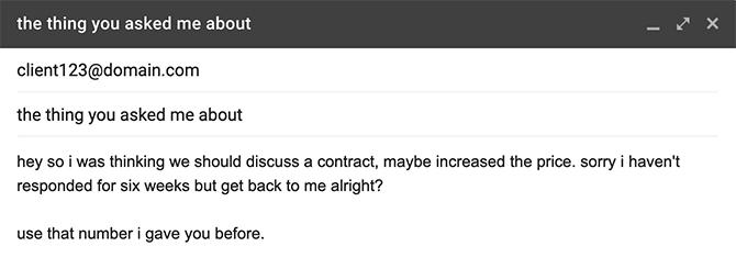 Etiquette e-mail