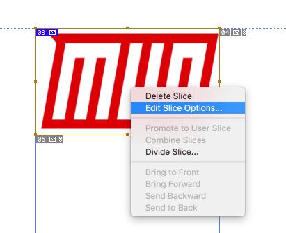 Hinzufügen von Hyperlinks in Adobe Illustrator oder Photoshop Bearbeiten von Slice-Optionen