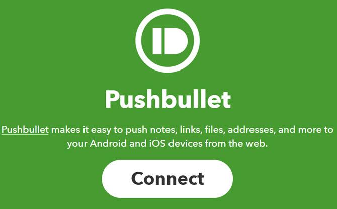 Pushbullet verbindet sich mit IFTTT