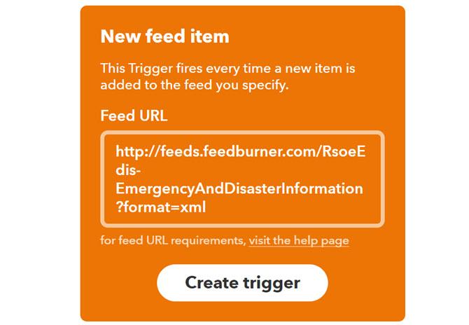 IFTTT neuer RSS-Feed-Trigger