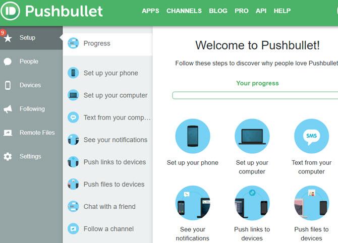 Konfiguration von Pushbullet