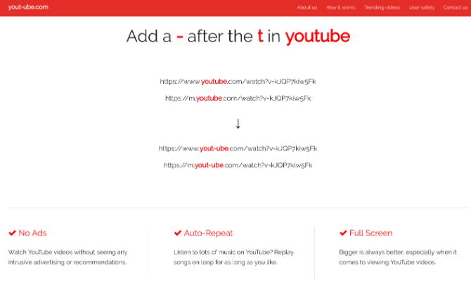 Yout-ube macht jedes Video werbefrei im Vollbildmodus und spielt es in einer Schleife ab
