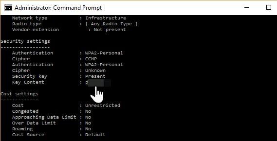So finden Sie gespeicherte Wi-Fi-Kennwörter für frühere Netzwerke im Windows 10 03-Befehlsfenster