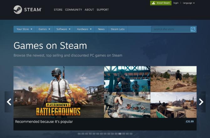 Jeux PC sur Steam