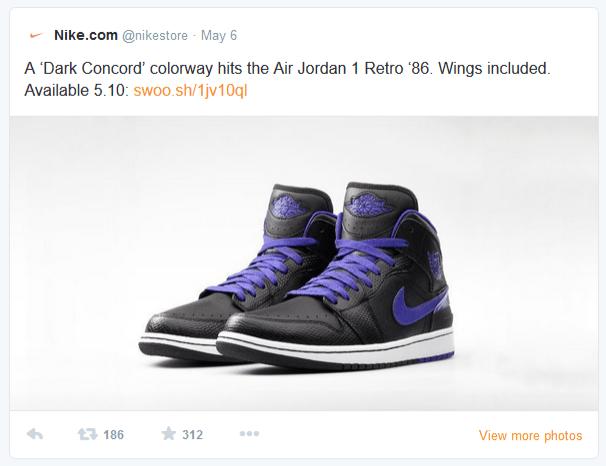 Fügen Sie Produkte von Twitter mit einem nikecom Hashtag direkt Ihrem Amazon-Warenkorb hinzu