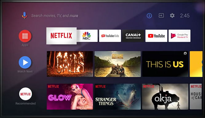 interface tv android