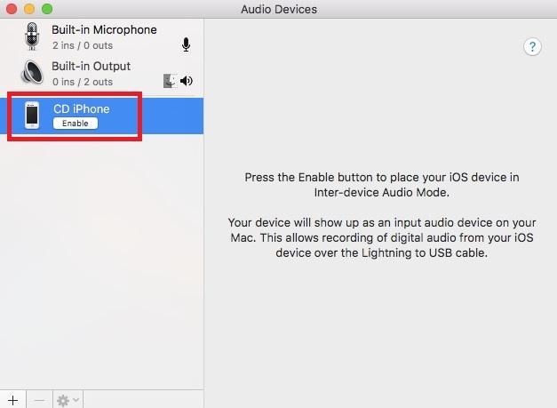 So spielen Sie iPhone Audio auf iPhone Mac Audio Input ab