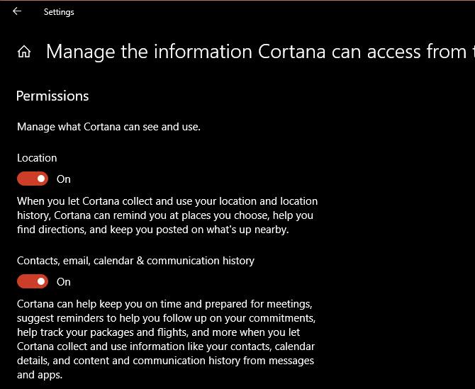 Cortana-Zugang-Info