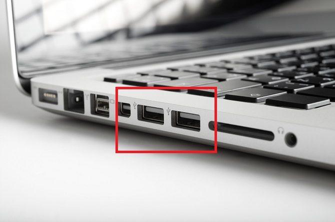 Verwendung eines Flash-Laufwerks am Windows 10 670x445 USB-Anschluss