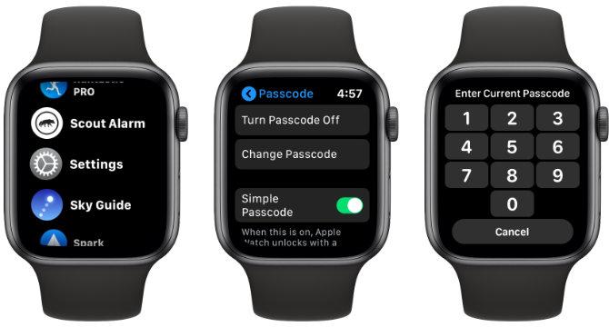 Apple Watch Passwort ändern
