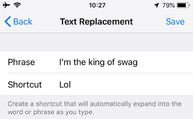 iPhone Autocorrect Streich