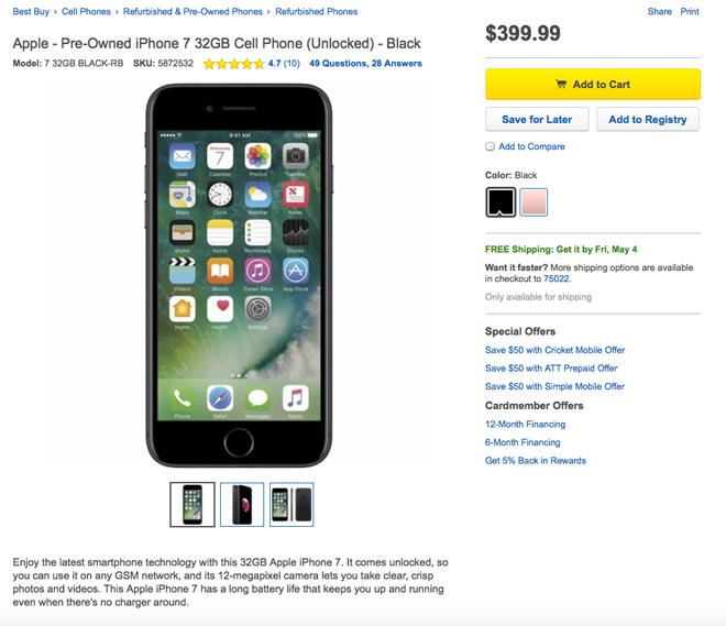 bester Ort, um ein gebrauchtes iPhone zu kaufen - Best Buy iPhone Listing