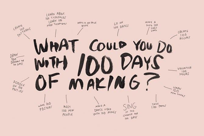 Erstellen Sie alles in 100 Tagen.