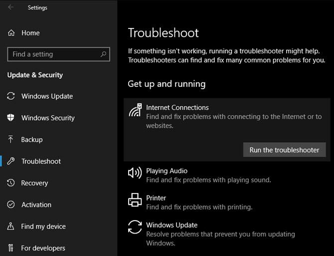 Windows-10-Fehlerbehebung