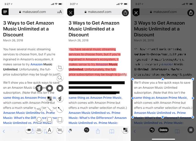 Annotations annotables sur iPhone