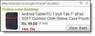 Chrom ebay hinzufügen
