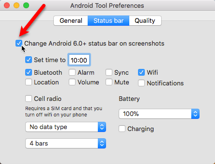 AndroidTool-Einstellungen-Statusleiste