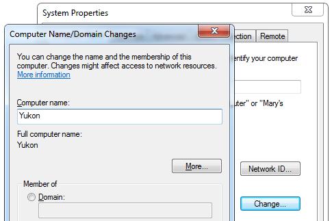 Ändern Sie den Namen des Windows 7-Computers