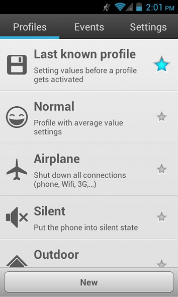Android Switch Profil