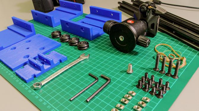 matériaux de curseur de caméra bricolage