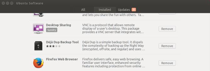 applications installées par ubuntu