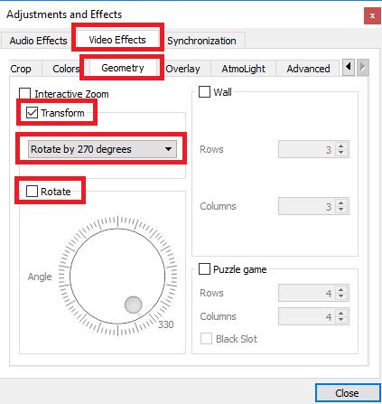 Comment faire pivoter des fichiers vidéo sur votre Mac et PC Les filtres d'effets VLC pivotent