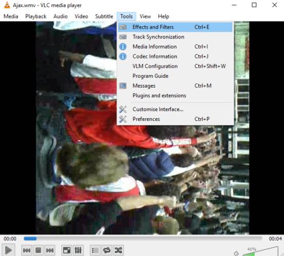 Comment faire pivoter des fichiers vidéo sur votre Mac et PC filtres d'effets vlc 554x500