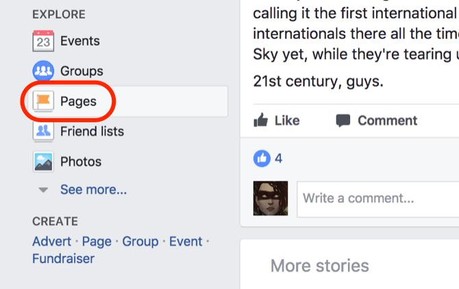 facebook pages aimées