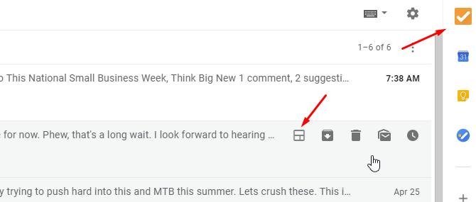 Nouvel affichage du module complémentaire Gmail