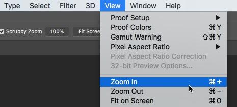 4 raffinierte Möglichkeiten zum Zoomen in Photoshop Photoshop CC 2018 Zoom