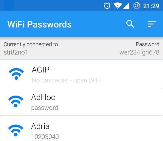WiFi-Mots de passe-App