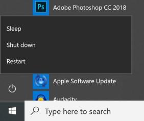 Hinzufügen des Ruhezustands zum Windows 10-Startmenü Win10-Startschaltfläche 1