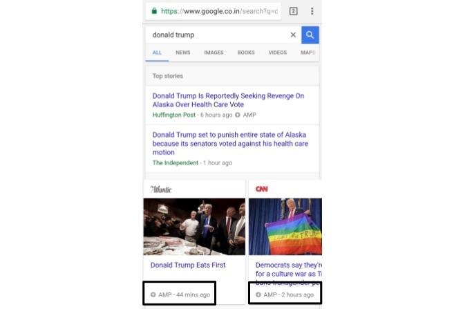 recherche google amp donald trum