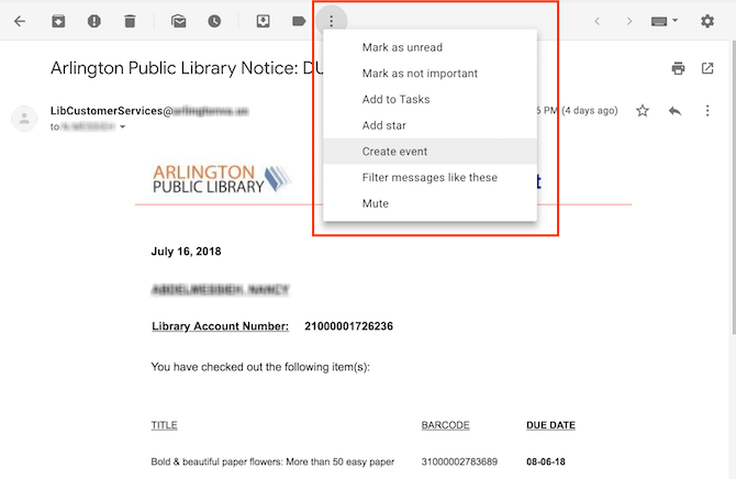 Comment éviter les frais de retard de la bibliothèque en utilisant Google Calendar Google Calendar Gmail 1