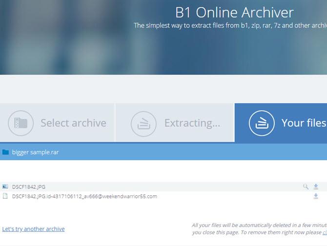 B1 Online-Archivierer