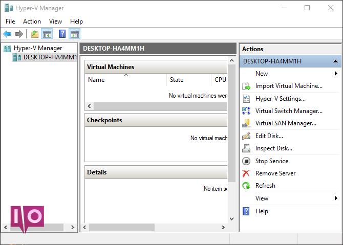 Hyper-V-Manager Windows 10